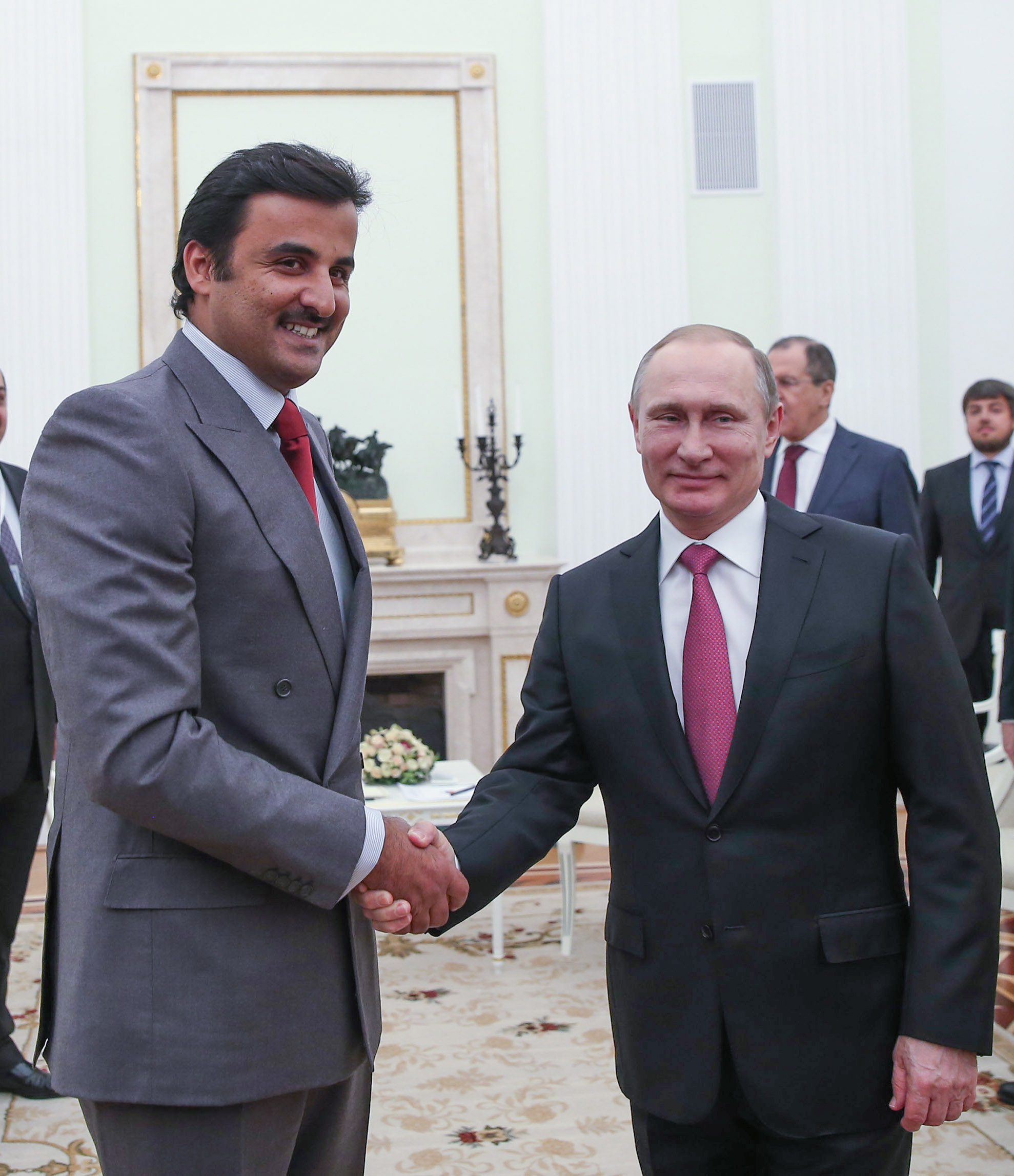 Hh the amir meets russian president kristyandbryce Images