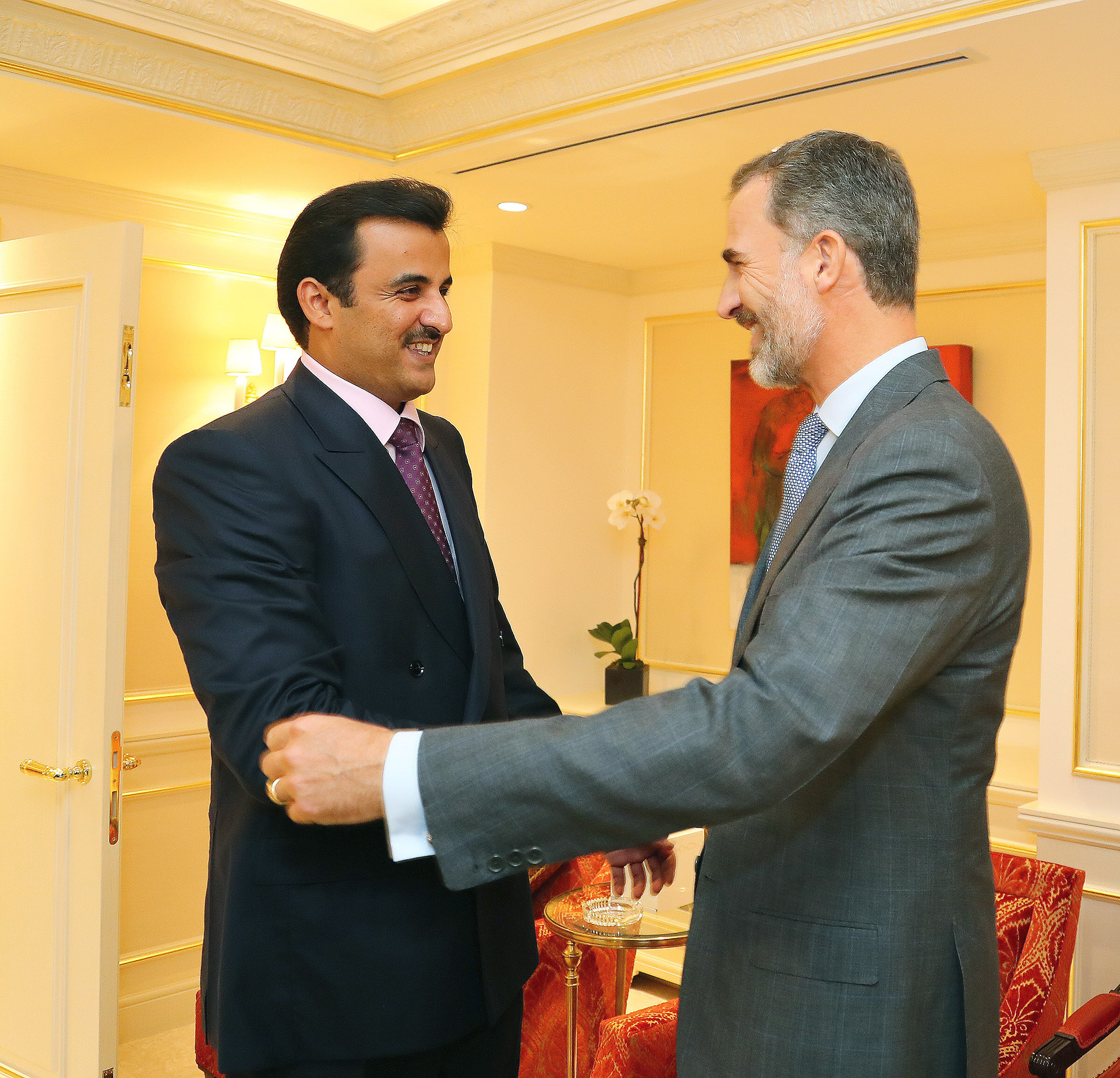 Hh The Amir Receives King Of Spain